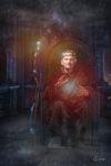 Pendror ra Ys, der Hexerei mächtige Cridien-Priester und Kämmerer von Clanthon