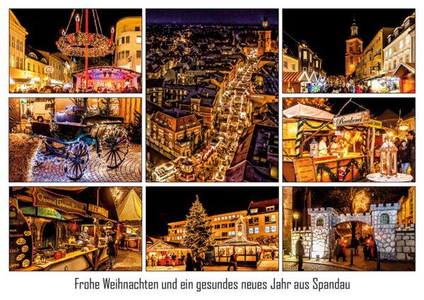 Weihnachtspostkarte - Weihnachtsmarkt Spandauer Altstadt (Foto: Ralf Salecker)