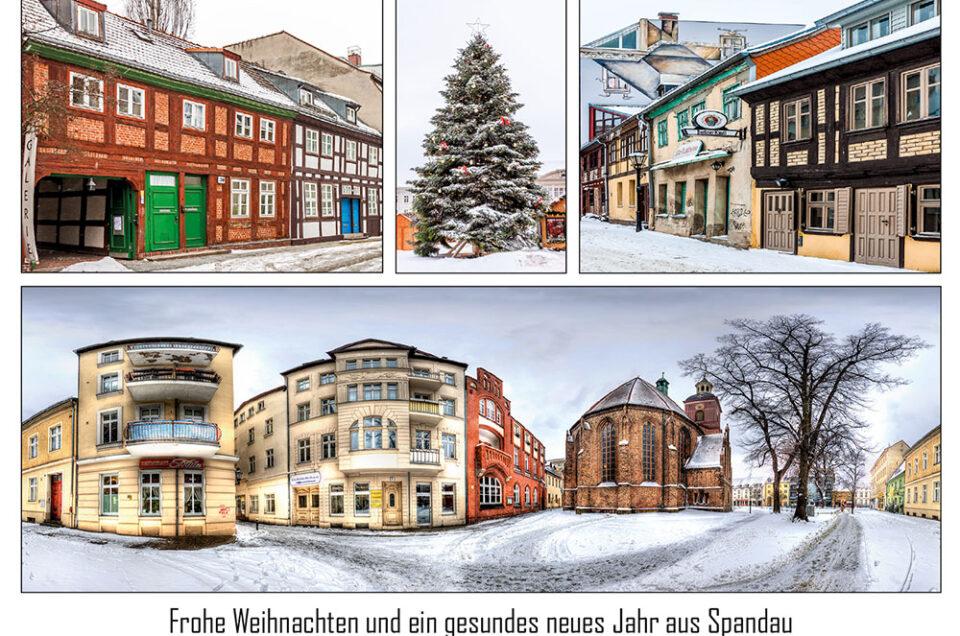 Weihnachtspostkarte Spandauer Altstadt im Schnee (Foto: Ralf Salecker)